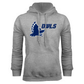 Grey Fleece Hoodie-Full Owl Owls