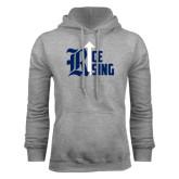 Grey Fleece Hood-Rice Rising
