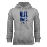 Grey Fleece Hood-Rice University Owls