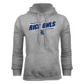 Grey Fleece Hood-Rice Owls Athletic Design