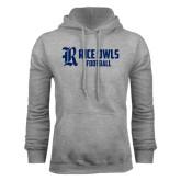 Grey Fleece Hood-Football