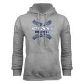Grey Fleece Hood-Double Stiches Baseball Design