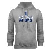 Grey Fleece Hood-Stacked Type Baseball Design