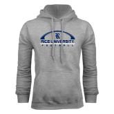 Grey Fleece Hood-Arched Football Design