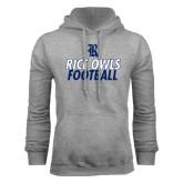 Grey Fleece Hood-Stacked Type Football Design