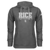 Adidas Climawarm Charcoal Team Issue Hoodie-Rice University Stacked