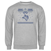 Grey Fleece Crew-Owl - Ugly Christmas Sweater