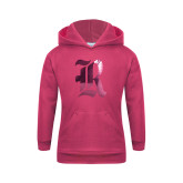 Youth Raspberry Fleece Hoodie-R Foil