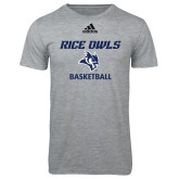 Adidas Sport Grey Logo T Shirt-Basketball