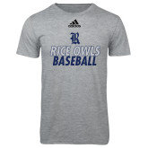 Adidas Sport Grey Logo T Shirt-Baseball