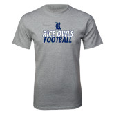 Sport Grey T Shirt-Stacked Type Football Design