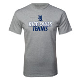 Sport Grey T Shirt-Stacked Type Tennis Design