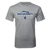 Sport Grey T Shirt-Stacked Stiches Baseball Design