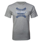 Sport Grey T Shirt-Double Stiches Baseball Design