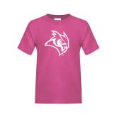 Youth Cyber Pink T Shirt-Owl Head