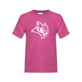 Youth Fuchsia T Shirt-Owl Head