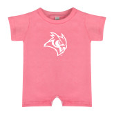 Bubble Gum Pink Infant Romper-Owl Head