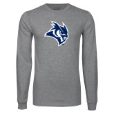 Grey Long Sleeve T Shirt-Owl Head