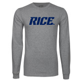 Grey Long Sleeve T Shirt-Rice