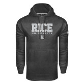 Under Armour Carbon Performance Sweats Team Hood-Rice University Stacked
