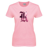 Ladies Pink T-Shirt-R Foil