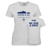Ladies White T Shirt-2017 College Football Sydney Cup