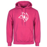 Fuchsia Fleece Hood-Owl Head