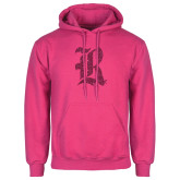 Fuchsia Fleece Hood-R Hot Pink Glitter