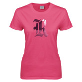 Ladies Fuchsia T Shirt-R Foil