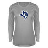 Ladies Syntrel Performance Platinum Longsleeve Shirt-Official Logo