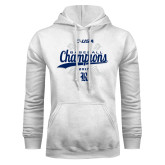 White Fleece Hoodie-Conference USA Baseball Champions