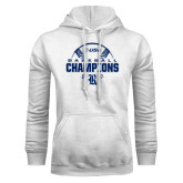 White Fleece Hood-Conference USA Baseball Champions