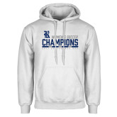 White Fleece Hoodie-2017 Womens Soccer Champions - Bar Design