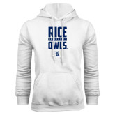 White Fleece Hood-Rice University Owls