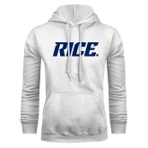 White Fleece Hoodie-Rice