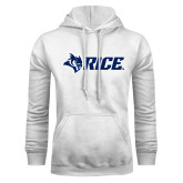 White Fleece Hoodie-Owl Head Rice