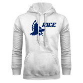 White Fleece Hoodie-Full Owl Rice