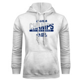 White Fleece Hoodie-Conference USA Mens Tennis Champions