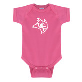 Fuchsia Infant Onesie-Owl Head