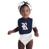 Navy Baby Bib-R
