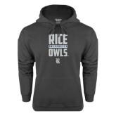 Charcoal Fleece Hood-Rice University Owls