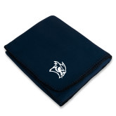 Navy Arctic Fleece Blanket-Owl Head