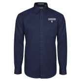 Navy Twill Button Down Long Sleeve-Conference USA Baseball Champions