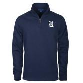 Navy Slub Fleece 1/4 Zip Pullover-R