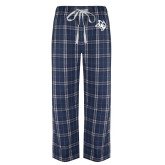 Navy/White Flannel Pajama Pant-Owl Head