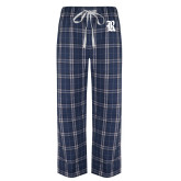 Navy/White Flannel Pajama Pant-R