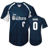 Replica Navy Adult Baseball Jersey-Los Buhos