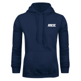 Navy Fleece Hoodie-Rice