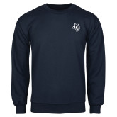 Navy Fleece Crew-Owl Head