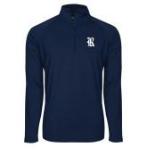 Sport Wick Stretch Navy 1/2 Zip Pullover-R